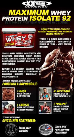 2X MAXIMUM WHEY PROTEIN ISOLATE 92% | Strongbody.cz