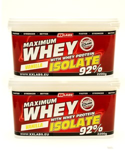 2x Maximum Whey Protein Isolate 92%
